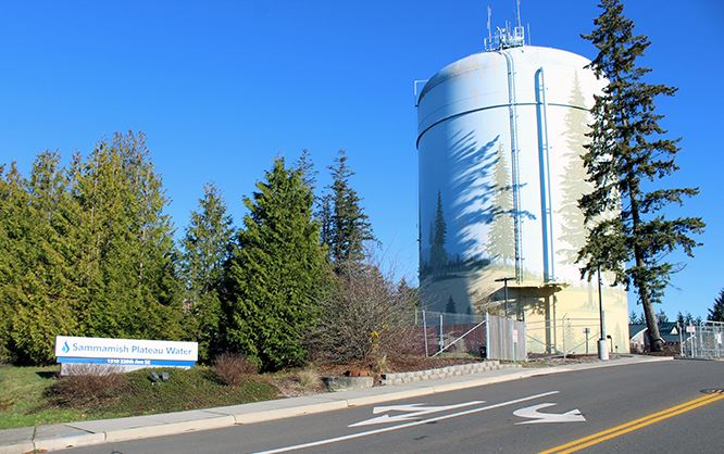 Sammamish Plateau Water Headquarters - Showing Water Tank